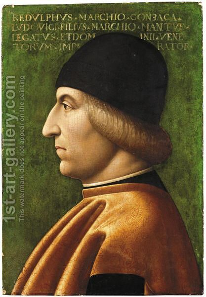 Portrait Of A Man In Profile, Said To Be Rodolfo Gonzaga (1451-1495) by (after) Baldassare D'este - Reproduction Oil Painting