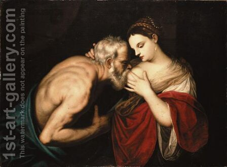 Roman Charity by (Alessandro) Padovanino (Varotari) - Reproduction Oil Painting