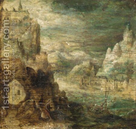 Christ Walking On Water by (after) Herri Met De Bles - Reproduction Oil Painting