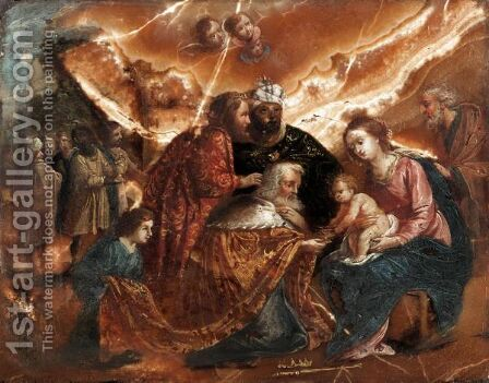 The Adoration Of The Magi by (after) Jacques Stella - Reproduction Oil Painting