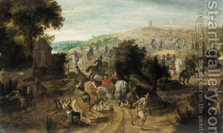 Battle Scene With Cavalry Routing An Army by (after) Pieter Snayers - Reproduction Oil Painting