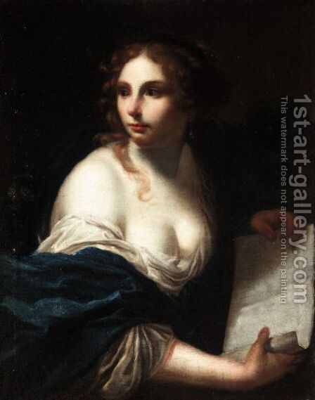 A Sibyl by (after) Simone Pignoni - Reproduction Oil Painting