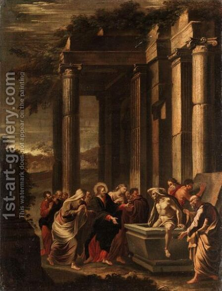Architectural Capriccio With The Raising Of Lazarus by (after) Niccolo Codazzi - Reproduction Oil Painting