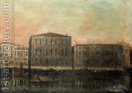 Venice, A View Of The Grande Canal At The Ca'Pesaro by (after) Francesco Albotto - Reproduction Oil Painting