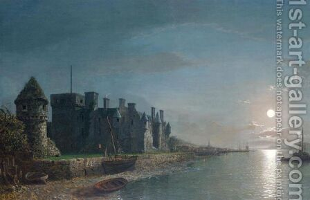 Newark Castle, Port Glasgow, Mouth Of The Clyde by Henry Pether - Reproduction Oil Painting