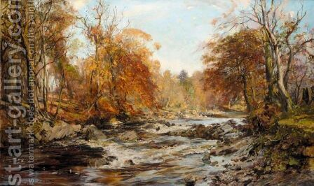Falls Of Leny, Trossachs by Archibald Kay - Reproduction Oil Painting