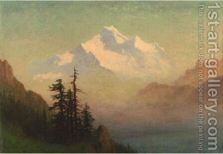 Mountain Lake 2 by Albert Bierstadt - Reproduction Oil Painting