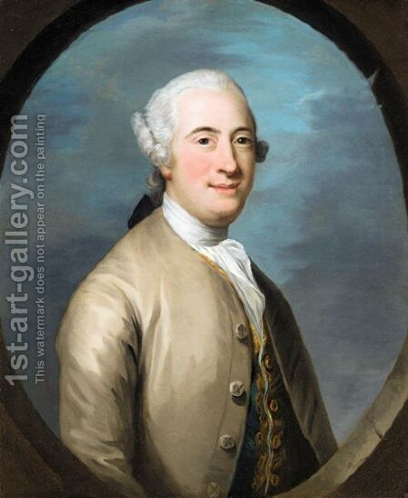 Portrait Of Henry, Lord Drumlanrig (1722-1754) by (after) Francis Lindo - Reproduction Oil Painting