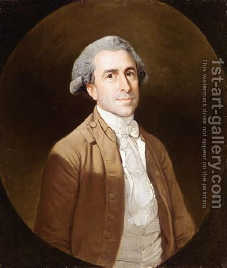 Portrait Of Thomas Henry Davies (1751 - 1792) by Arthur William Devis - Reproduction Oil Painting