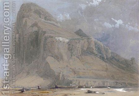 View Of Gibraltar From The Neutral Ground by David Roberts - Reproduction Oil Painting