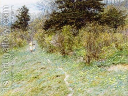 At Westerham, Kent by Helen Mary Elizabeth Allingham, R.W.S. - Reproduction Oil Painting