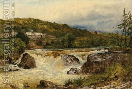 Near Bettws-Y-Coed, The Junction Of The Conway And The Llugwy by Benjamin Williams Leader - Reproduction Oil Painting