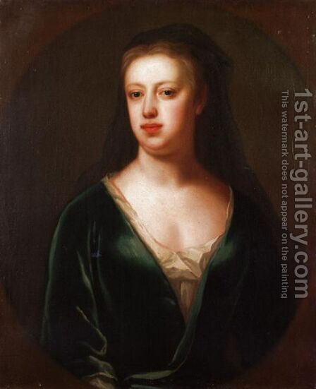 Portrait Of A Lady, Said To Be Lady Susannah Child by (after) Maria Verelst - Reproduction Oil Painting