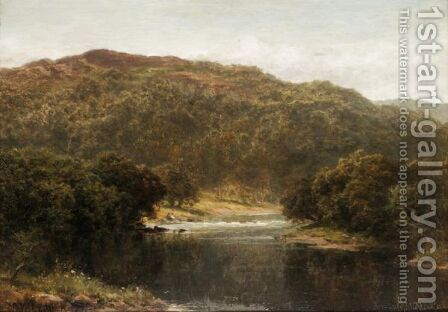 A Welsh River by Benjamin Williams Leader - Reproduction Oil Painting