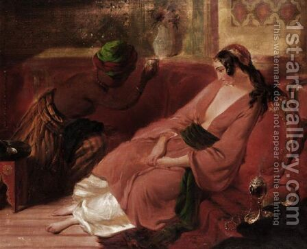 In The Harem, Granada, Spain by Henry Stanier - Reproduction Oil Painting