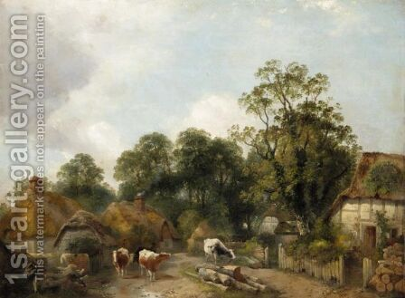 Near Dorking, Surrey by Charles Collins - Reproduction Oil Painting