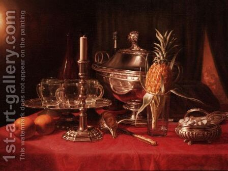 Still Life by (after) Joseph Peter Wilms - Reproduction Oil Painting