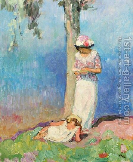 La Lecture Sous L'Arbre by Henri Lebasque - Reproduction Oil Painting