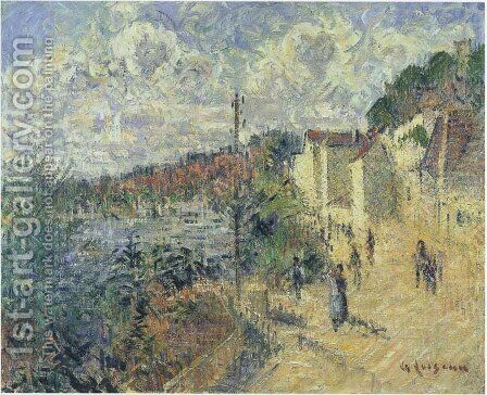 Le Quai De Beynac by Gustave Loiseau - Reproduction Oil Painting