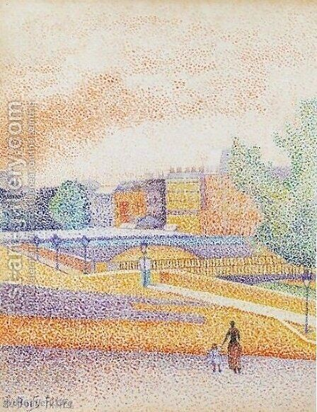 Vue De Paris by Albert Dubois-Pillet - Reproduction Oil Painting