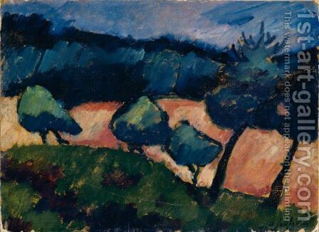 Baume Und Dunen In Prerow (Trees And Dunes In Prerow) by Alexei Jawlensky - Reproduction Oil Painting