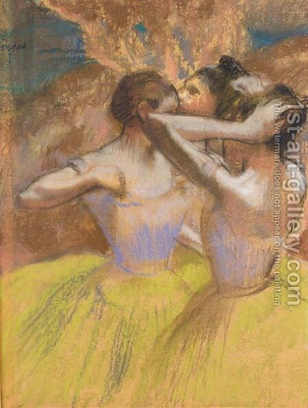 Les Trois Danseuses Jaunes by Edgar Degas - Reproduction Oil Painting