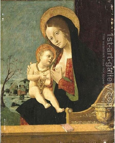 Madonna And Child by (after) Vincenzo Civerchio - Reproduction Oil Painting