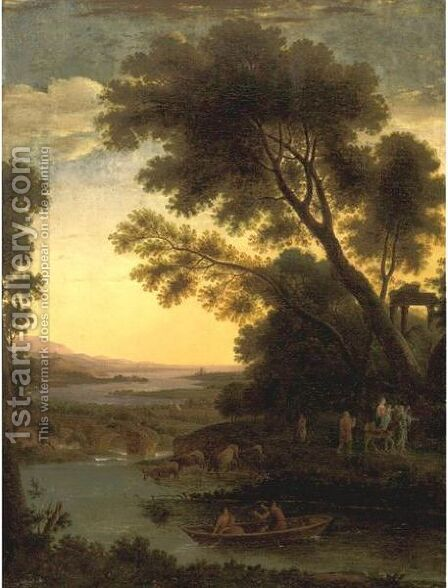 Flight Into Egypt by (after) Claude Lorrain (Gellee) - Reproduction Oil Painting