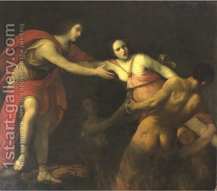 Orpheus And Eurydice by (after) Carlo Cignani - Reproduction Oil Painting