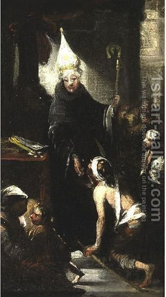 Charity Of St. Thomas Of Villanova by (after) Murillo, Bartolome Esteban - Reproduction Oil Painting
