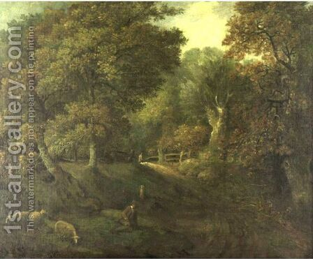 Shepherd Resting by (after) Gainsborough, Thomas - Reproduction Oil Painting