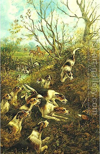 The Fox Hunt A Pair Of Paintings by Arthur Alfred Davis - Reproduction Oil Painting