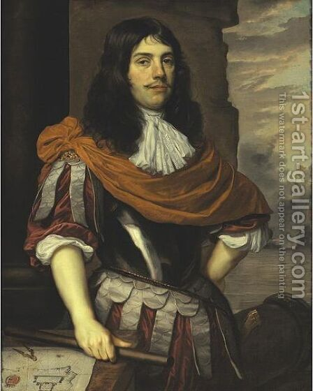 Portrait Of Admiral Cornelis Tromp (1629-1691) by Jan Mijtens - Reproduction Oil Painting