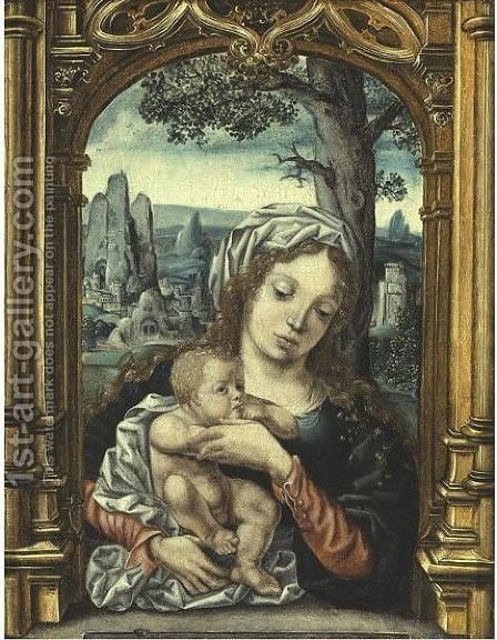 Virgin And Child by (after) Jan (Mabuse) Gossaert - Reproduction Oil Painting