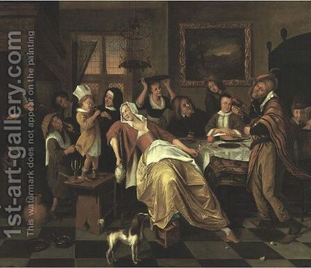 Twelfth Night by (after) Jan Steen - Reproduction Oil Painting