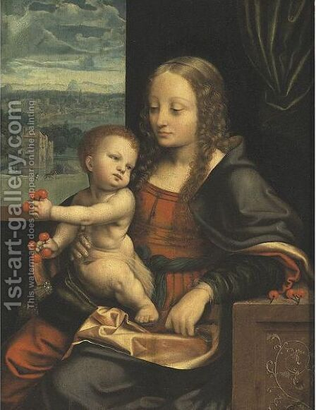 Madonna Of The Cherries by (after) Cleve, Joos van - Reproduction Oil Painting