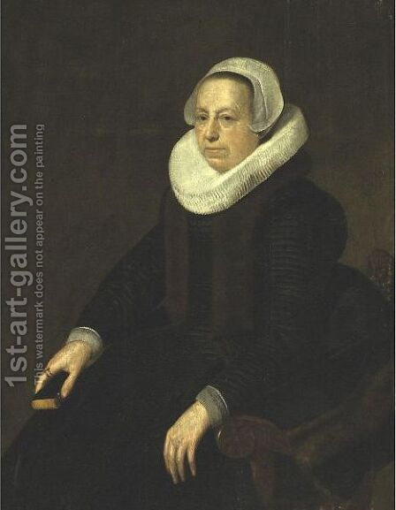 Portrait Of An Old Lady by (after) Harmenszoon Van Rijn Rembrandt - Reproduction Oil Painting
