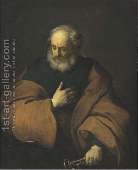 Saint Peter Holding The Keys To The Church by Jacob Adriaensz Backer - Reproduction Oil Painting