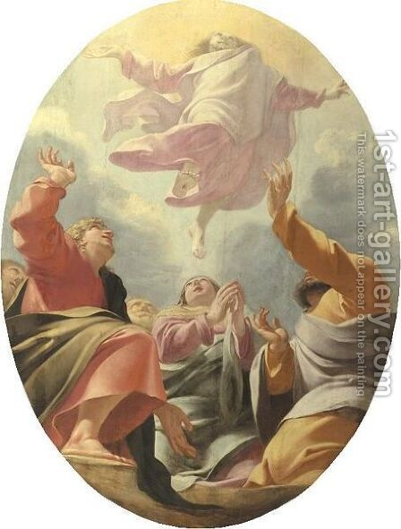 Ascension Of Christ by (after) Eustache Le Sueur - Reproduction Oil Painting