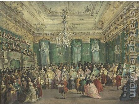 The Ladies' Concert In The Philharmonic by (after) Francesco Guardi - Reproduction Oil Painting