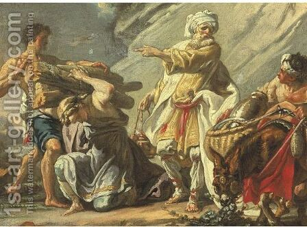 Noah Before The Sacrifice by (after) Joseph-Marie Vien - Reproduction Oil Painting