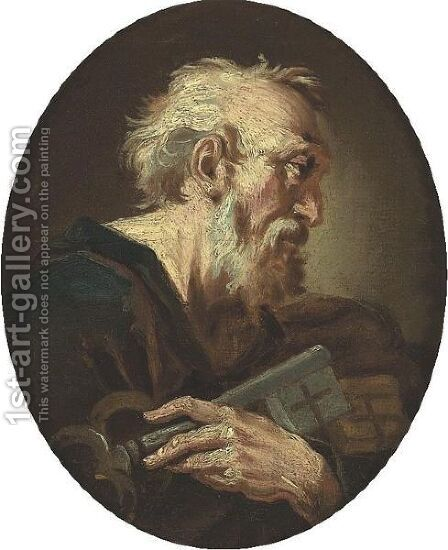 Saint Peter by (after) Giuseppe Antonio Pianca - Reproduction Oil Painting