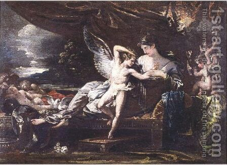 Venus And Cupid 2 by Benjamin West - Reproduction Oil Painting