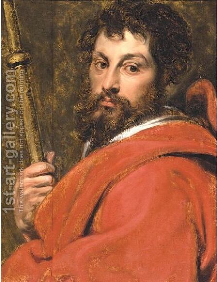 Saint James The Great by (after) Jacob Jordaens - Reproduction Oil Painting