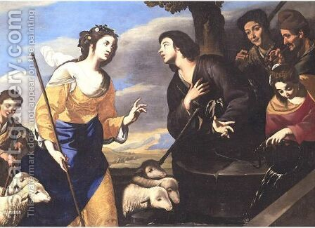 Moses And The Daughters Of Jethro by Giuseppe Marullo - Reproduction Oil Painting