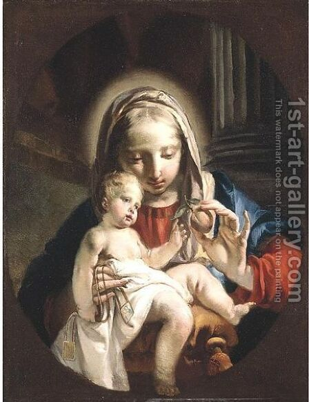 Madonna And Child by Giovanni Battista Tiepolo - Reproduction Oil Painting