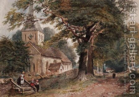 The Village Church by David Y. Cox - Reproduction Oil Painting