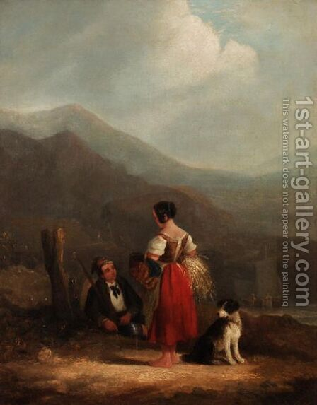 The End Of The Day by (after) William Joseph Shayer - Reproduction Oil Painting