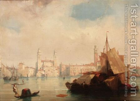 Venetian View by (after) Edward Pritchett - Reproduction Oil Painting