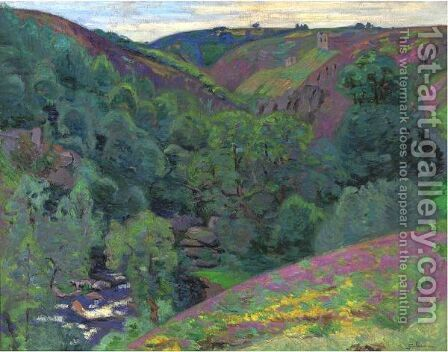 Vallee De La Sedelle A La Folie, Crozant by Armand Guillaumin - Reproduction Oil Painting